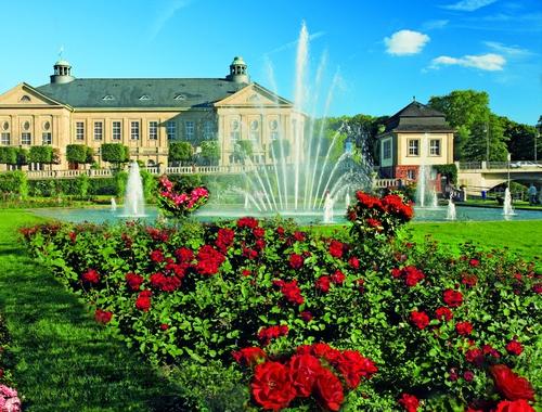 Der Rosengarten in Bad Kissingen
