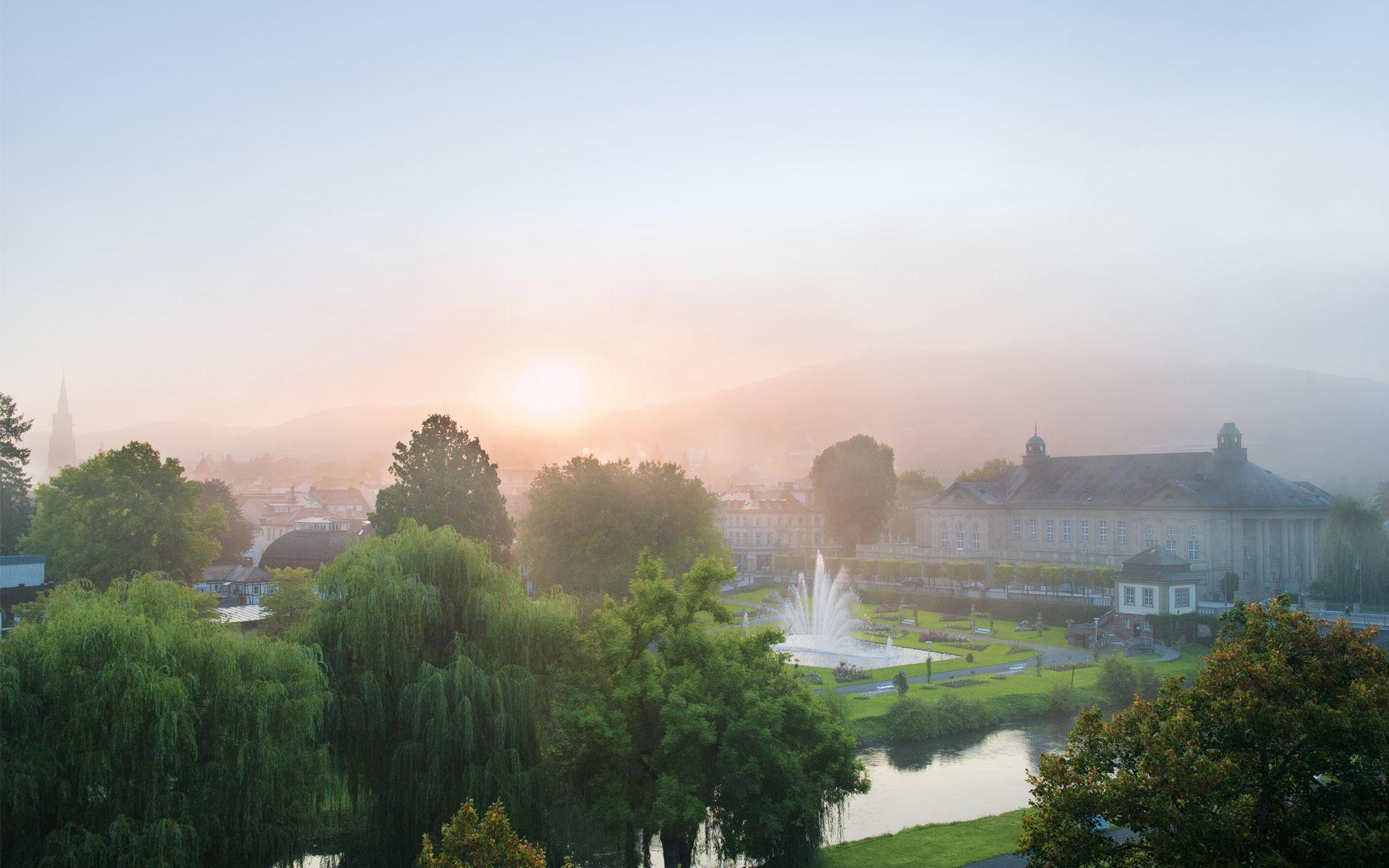 Morgengrauen in Bad Kissingen