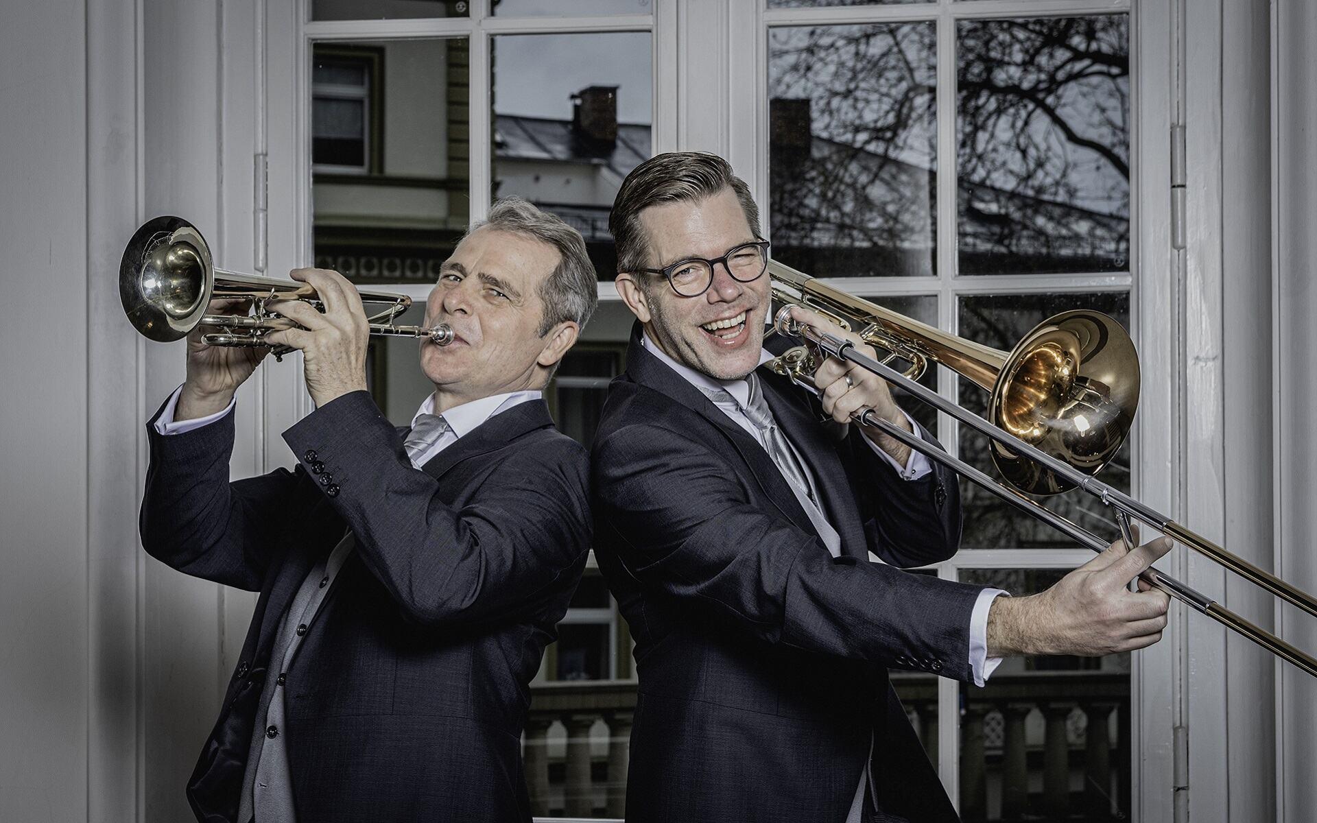 Gruppenfoto der Bläser der Staatsbad Philharmonie Kissingen