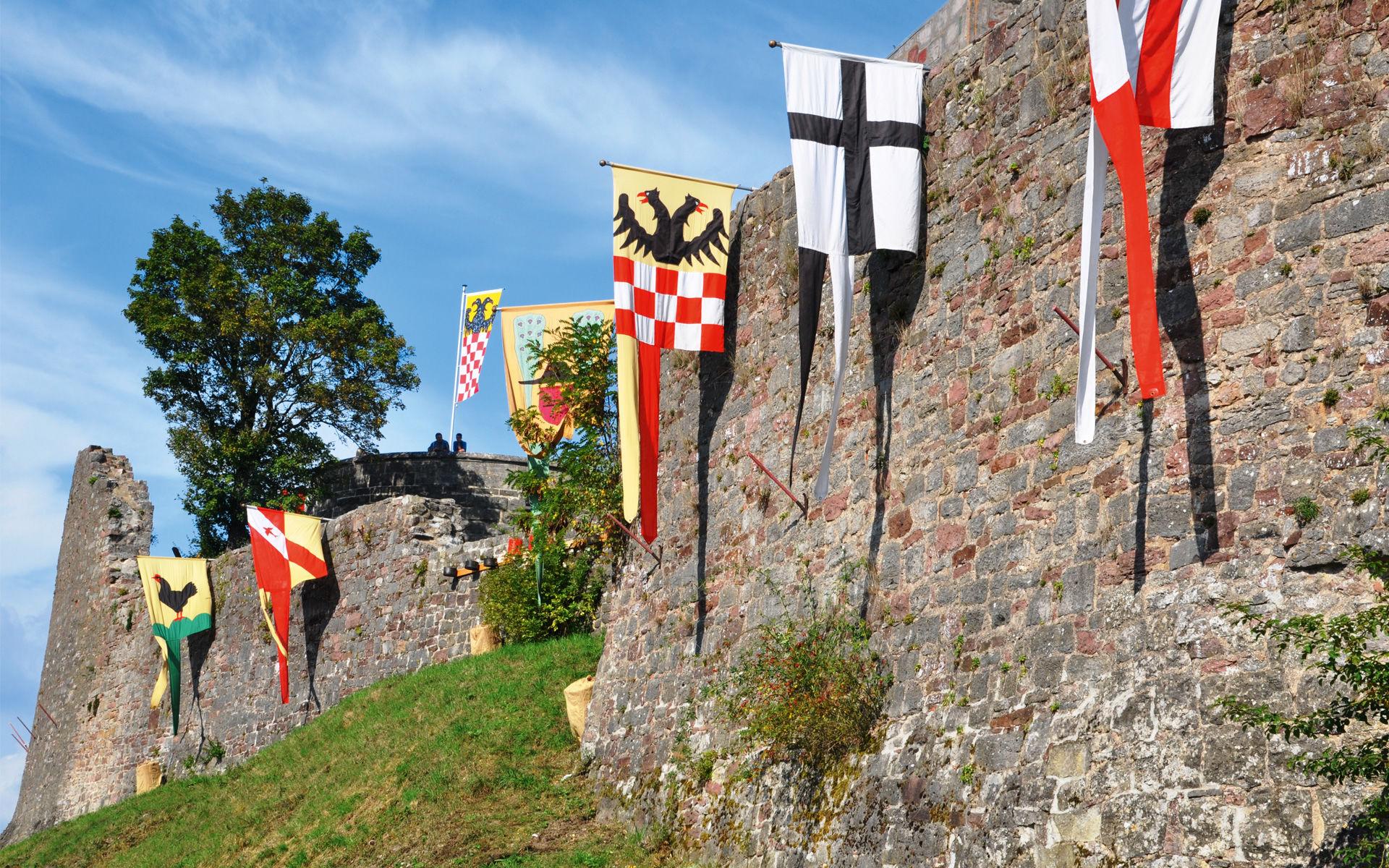 Foto der Mauern der Burgruine Botenlauben in Bad Kissingen