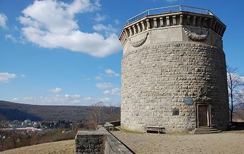 Bismarckturm mit Blick auf Bad Kissingen