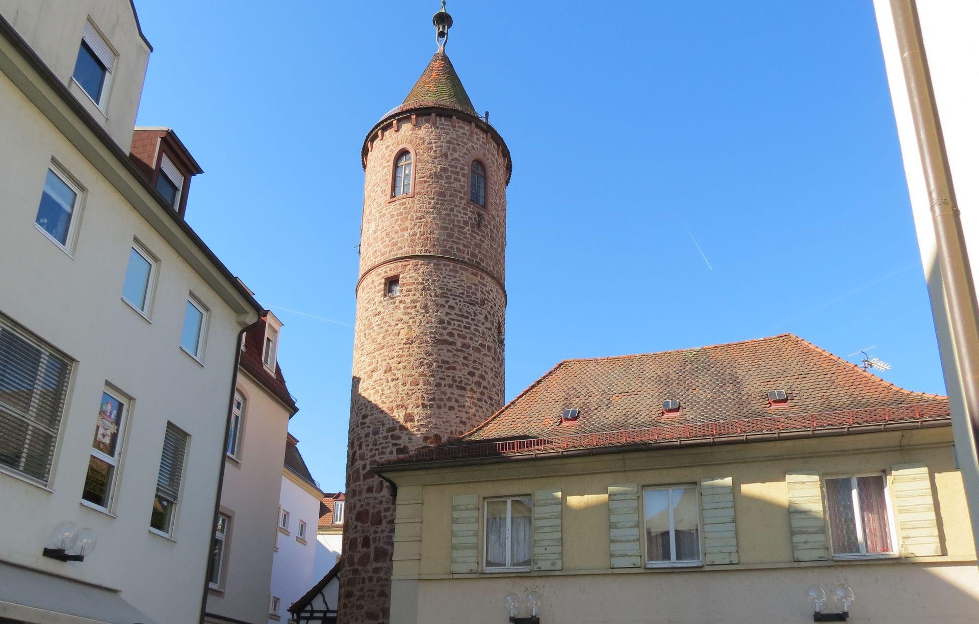 Blick auf Feuerturm Bad Kissingen