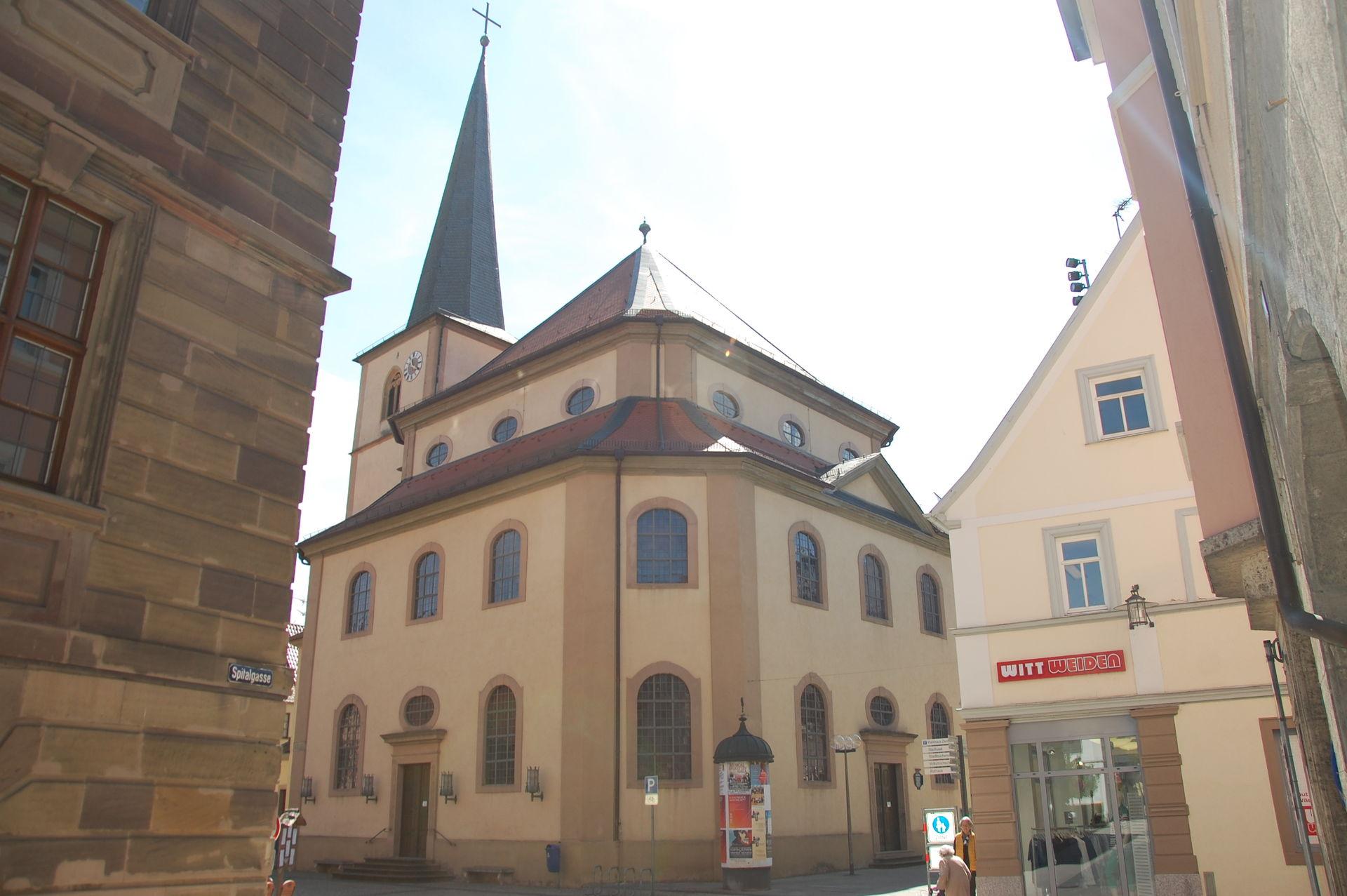 Blick auf die St. Jakobus Kirche in Bad Kissingen