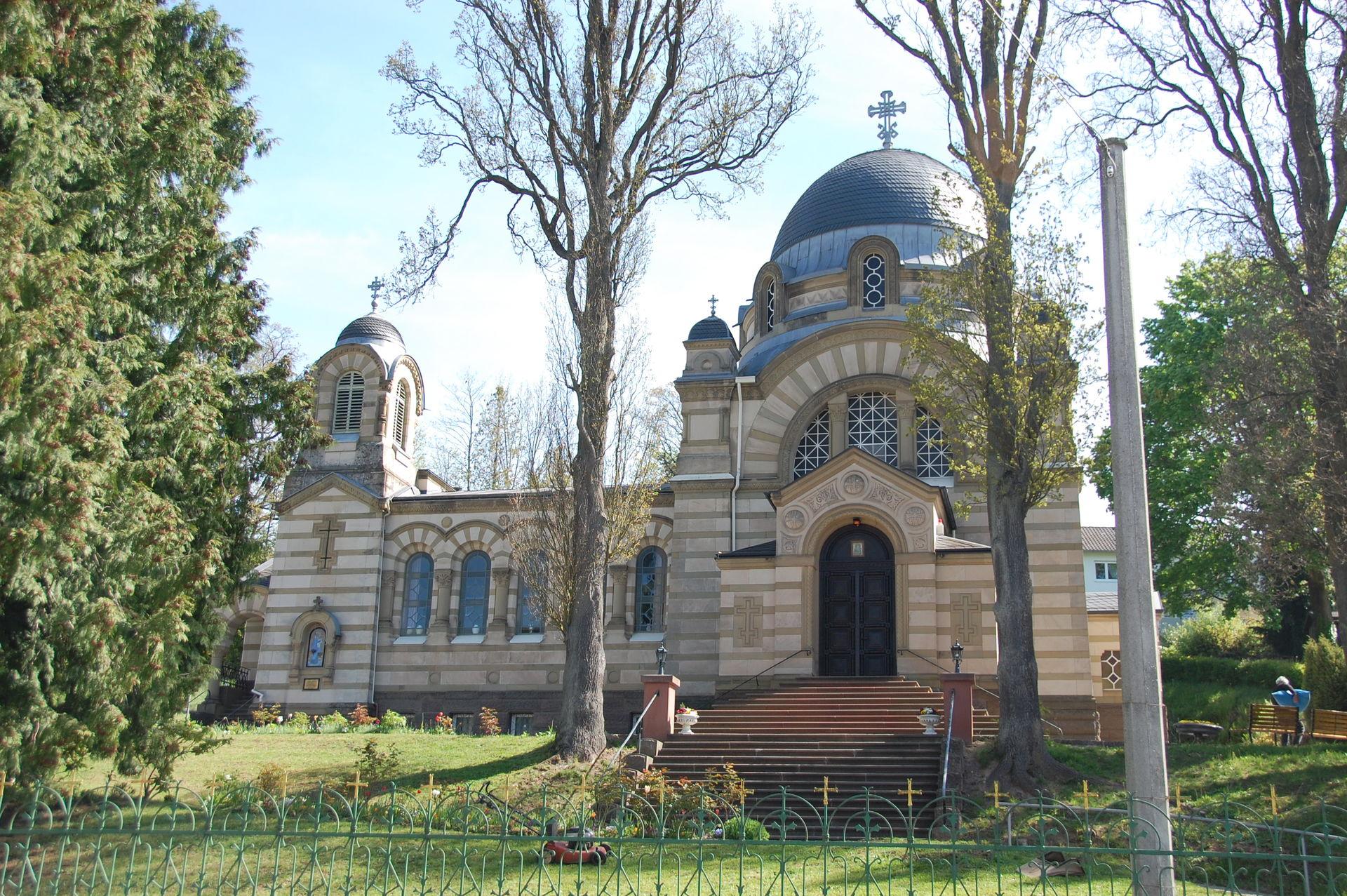 Blick auf die Russische Kirche in Bad Kissingen