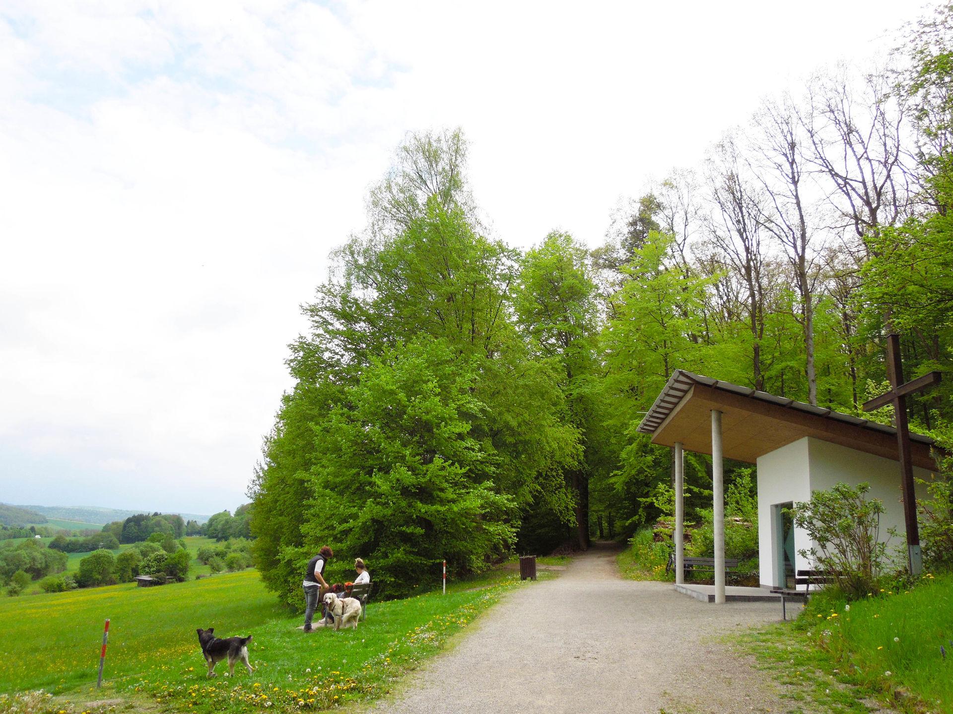 Foto des Eingangs zur Kolpingkapelle Bad Kissingen