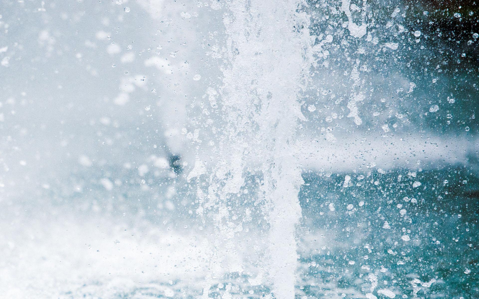 Foto von sprudelndem Wasser in der KissSalis Therme in Bad Kissingen