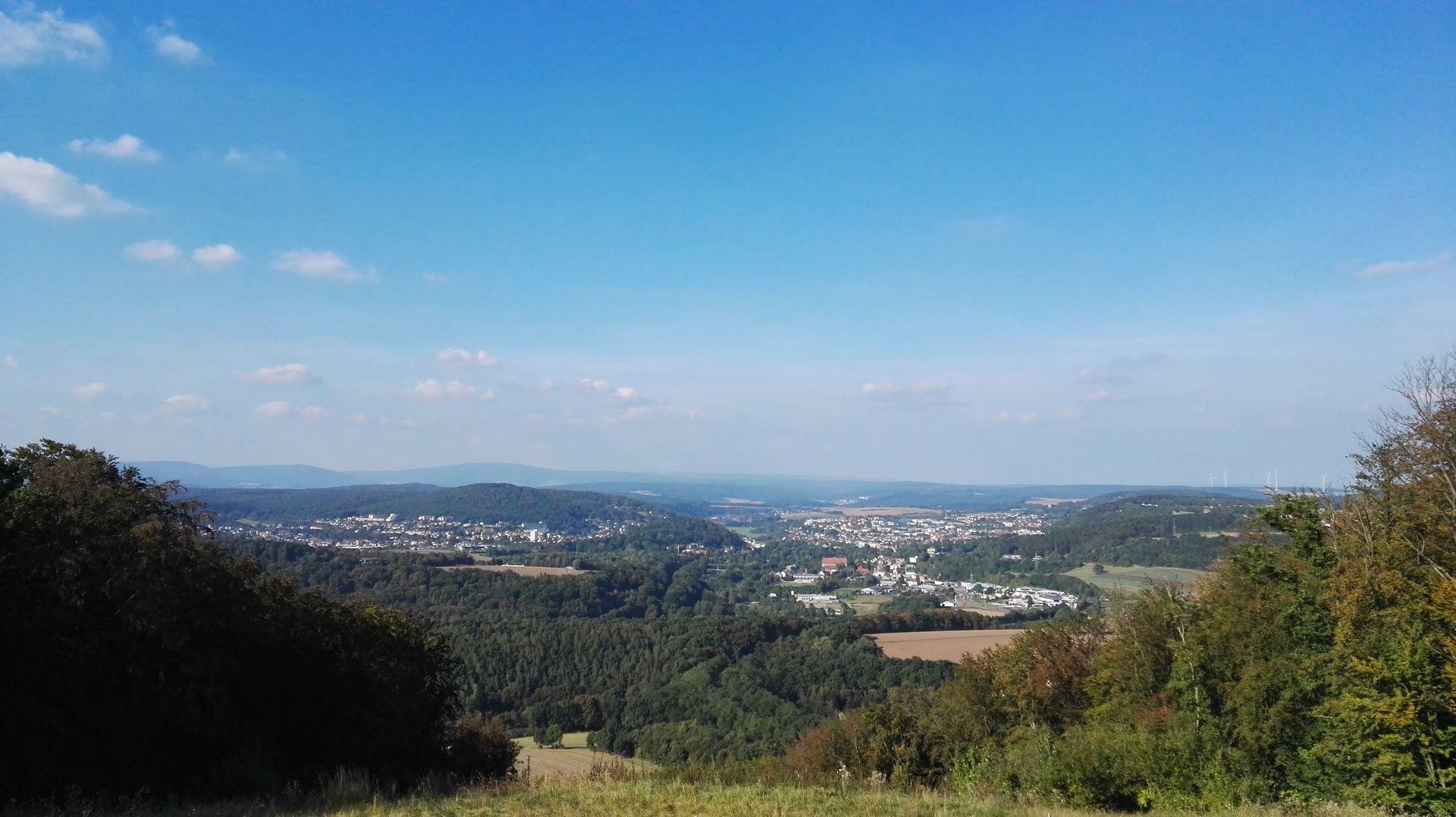 Ausblick vom Wittelsbacher Turm auf Bad Kissingen