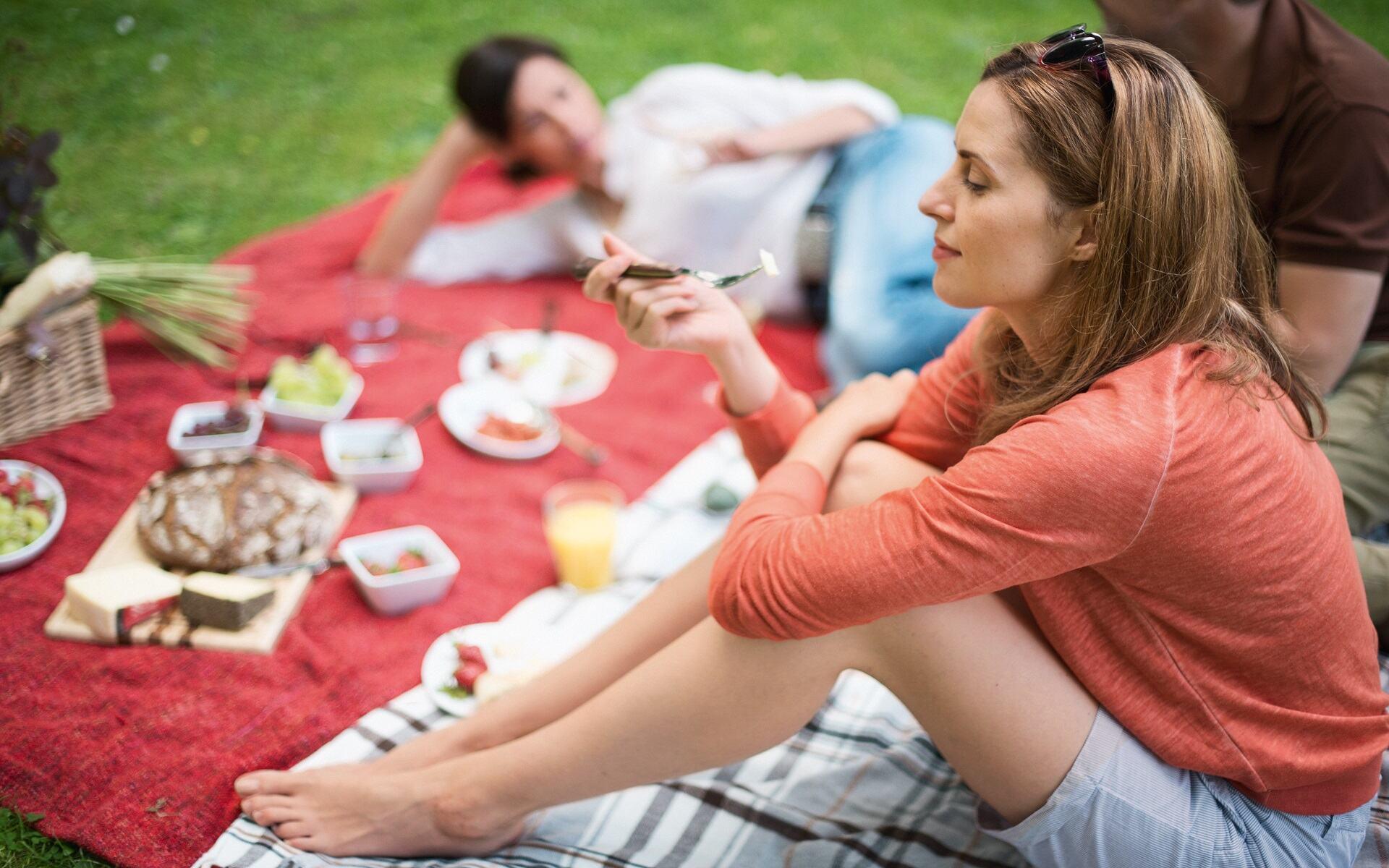 Foto eines Picknicks im Luidpoldpark in Bad Kissingen