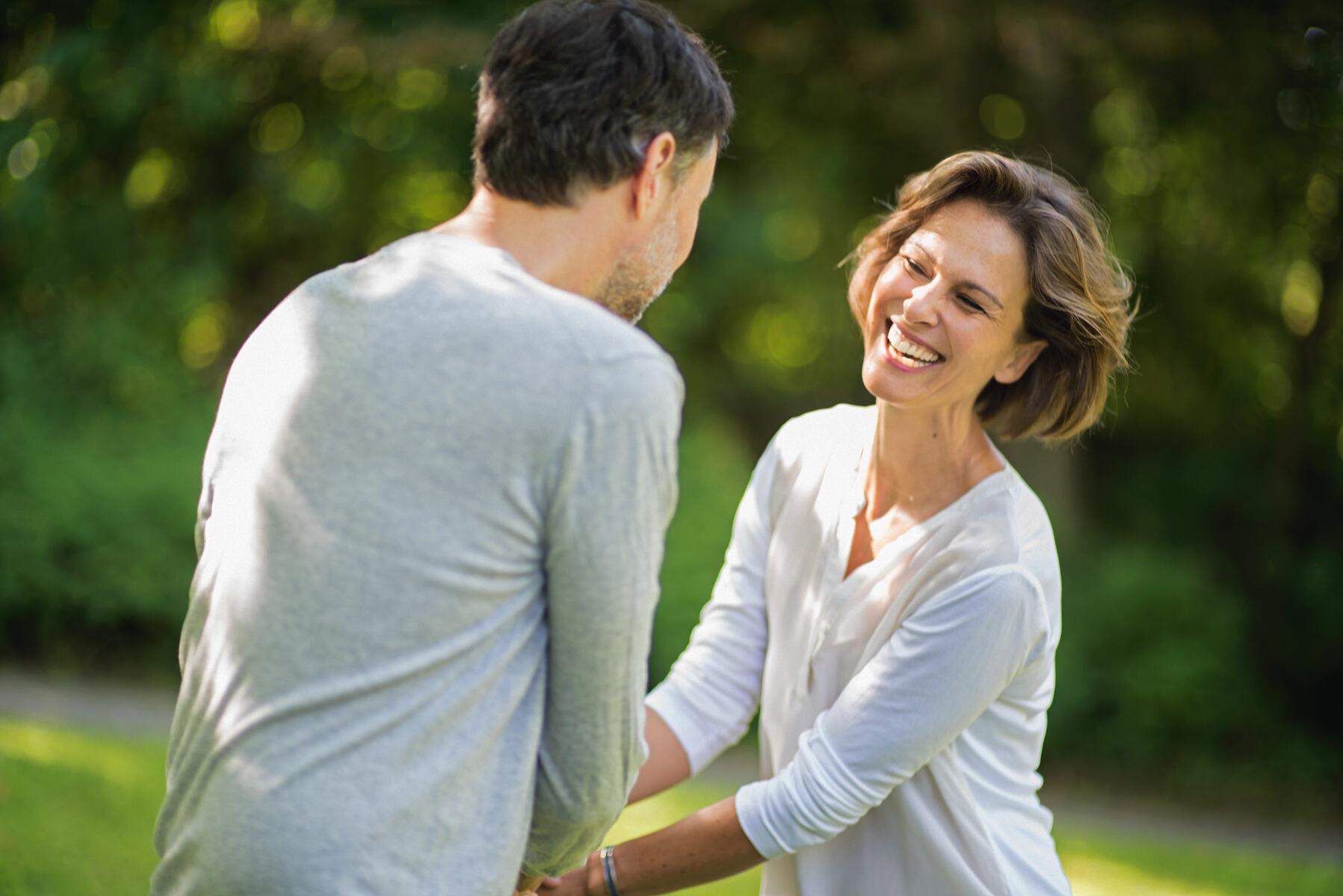 Foto eines glücklichen Paares in Bad Kissingen
